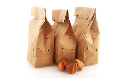 Paper bags with flower bulbs Stock Photo