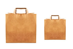 Paper bags isolated Stock Photo