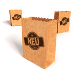 Paper bags with new Royalty Free Stock Photo