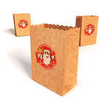 Paper bags with with Santa Claus Royalty Free Stock Photo