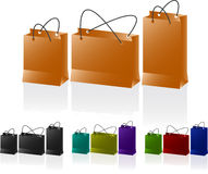 Paper bags set. Stock Photos