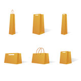 Paper bags in various sizes  Stock Image