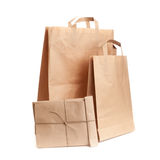 Paper bags on white Royalty Free Stock Image