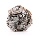 Paper ball Royalty Free Stock Photos