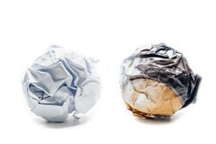 Paper ball object Stock Image