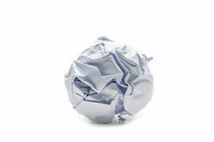 Paper ball object Royalty Free Stock Photo