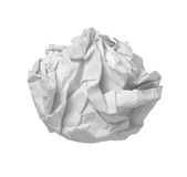 Paper ball office frustration waste Stock Photos