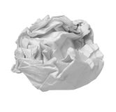 Paper ball office frustration waste royalty free stock photography