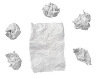 Paper ball office frustration waste royalty free stock photo