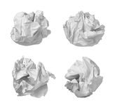 Paper ball office frustration waste Royalty Free Stock Images