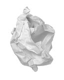 Paper ball office frustration waste stock images