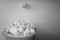 Paperball b/w Royalty Free Stock Photos