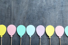 Paper balloons stock images