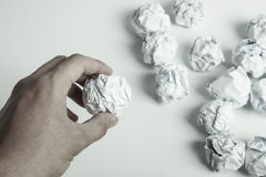 Paper Balls Royalty Free Stock Photography