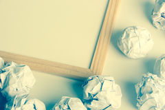 Paper Balls with whiteboard Royalty Free Stock Photography