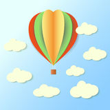 Paper baloon in sky Royalty Free Stock Images