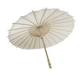 Paper Bamboo Umbrella Stock Photo
