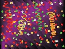 Paper banderoll och konfettiar Royaltyfria Bilder