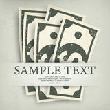 Paper bank notes & text Stock Photo