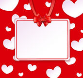 Paper banner, bow and ribbons Royalty Free Stock Photos