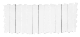 Paper banner with frayed edges. On white background Royalty Free Stock Images