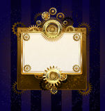 Paper banner with gears Royalty Free Stock Photo