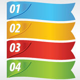 Paper Banner With Numbered. Royalty Free Stock Images