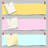 Paper Banner Set Stock Photos