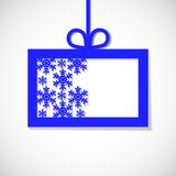 Paper banner with snowflake for business Stock Photos