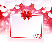 Paper banner with two hearts Royalty Free Stock Photography