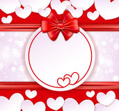 Paper banner with two hearts Royalty Free Stock Images