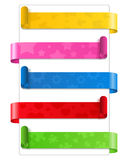 Paper Banners Stock Image