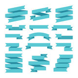Paper banners ribbons in origami style. Vector illustration Royalty Free Stock Photos