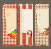 Paper, banners & toys Royalty Free Stock Images