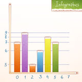 Paper bar chart, graph infographics elements. Stock Photography