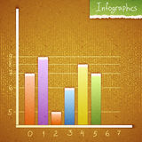 Paper bar chart, graph infographics elements. Stock Images