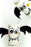 Paper bats for halloween Royalty Free Stock Photo