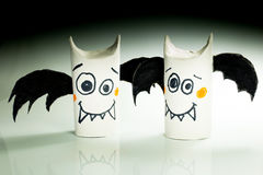 Paper bats for halloween Stock Photo
