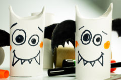 Paper bats for halloween Stock Images