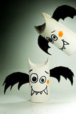 Paper bats for halloween Royalty Free Stock Photography