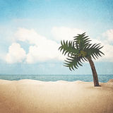 Paper beach background Royalty Free Stock Image
