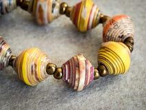 Paper Beads Bracelet Stock Photos
