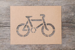 Paper bicycle Royalty Free Stock Photography