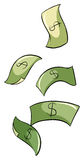 Paper bills Stock Images