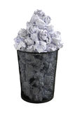 Paper bin Royalty Free Stock Image