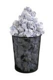 Paper bin. Trash bin full with paper Royalty Free Stock Image