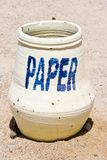 Paper bin Royalty Free Stock Images