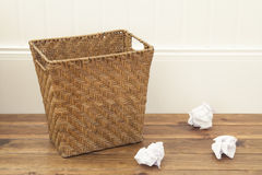 Paper bin Royalty Free Stock Photo