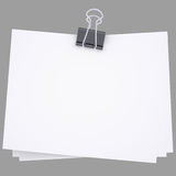 Paper with Binder. Isolated render on a white background Royalty Free Stock Photo