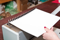 Paper Binding Royalty Free Stock Photo